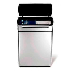 Abfallbehälter -Rectangular Touch-Bar Bin- Simplehuman, 48 Liter aus Edelstahl (Ausführung: Abfallbehälter -Rectangular Touch-Bar Bin- Simplehuman, 48 Liter aus Edelstahl  (Art.Nr.: 37845))