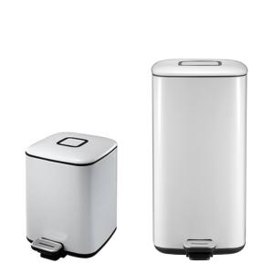 Abfallbehälter -Regent- EKO, 6 - 20 Liter aus Stahl, mit Pedal (Modell/Volumen/Maße (HxBxT):  <b>6 Liter</b> / 287 x 275 x 210 mm (Art.Nr.: 37793))