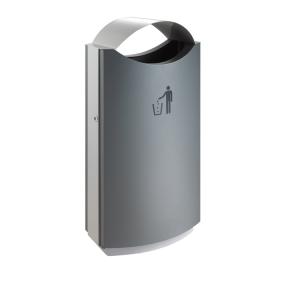 Abfallbehälter -Roof-, 68 Liter aus Stahl (Ausführung: Abfallbehälter -Roof-, 68 Liter aus Stahl (Art.Nr.: 36111))