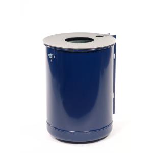 Abfallbehälter -State Alabama- mit Edelstahldeckel und Ascher, 50 Liter