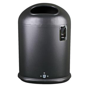 Abfallbehälter -State Hawaii- 43 Liter aus Stahl, mit Ascher und Bodenentleerung