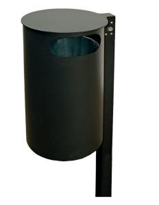 Abfallbehälter -State Honolulu- 60 Liter aus Stahl, wahlweise mit Ascher, mit 2 seitl. Öffnungen