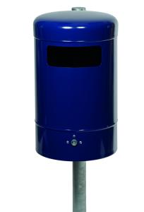 Abfallbehälter -State Kansas- rund, mit Bodenentleerung, 50 Liter, einseitiger Einwurf, verstärkt (Farbe: ohne Farbe (Art.Nr.: 10228-1))