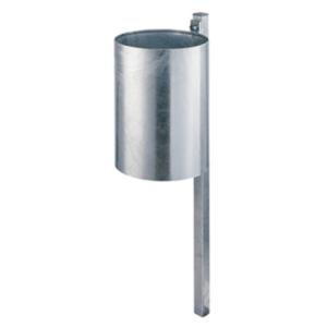 Abfallbehälter -State Maryland-, rund - inkl. Quadratrohrpfosten, Volumen 25 Liter, abnehmbar (Farbe: ohne Farbe (Art.Nr.: 10232-1))