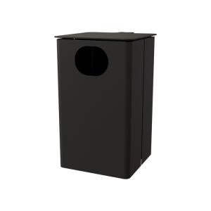 Abfallbehälter -State Texas- 35 Liter aus Stahlblech, wahlweise mit Ascher