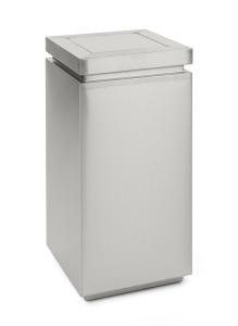 Abfallbehälter -Tumble Deluxe- 110 Liter aus Edelstahl, selbstlöschend (Ausführung: Abfallbehälter -Tumble Deluxe- 110 Liter aus Edelstahl, selbstlöschend (Art.Nr.: 34669))