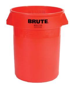 Abfallcontainer -BRUTE- Rubbermaid 121,1 Liter aus PE, wahlweise mit Deckel