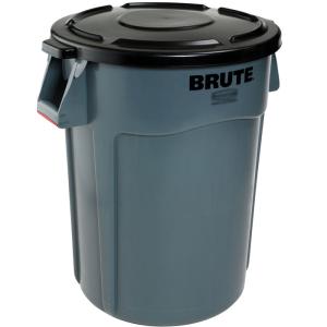 Abfallcontainer -BRUTE- Rubbermaid 166,5 Liter aus PE, wahlweise mit Deckel, mit Lüftungskanälen
