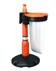 Abfalleimer für -Skipper- Absperrpfosten (Deckelfarbe: anthrazit (Art.Nr.: 34811))
