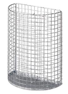 Abfallkorb -M1- 18 Liter aus Drahtgitter, halbrund