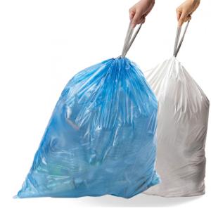 Abfallsäcke -Perfect Fit- Simplehuman, 3 bis 65 Liter aus Kunststoff (HDPE), mit Kordelzug (Volumen/Farbe/Verpackungseinheit:  <b>3 Liter</b>/weiß<br>40 Stück (Art.Nr.: 34893))