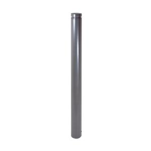 Absperr-Stilpfosten Ø 60 mm aus Stahl, mit Ziernut