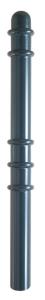 Absperr-Stilpfosten Ø 76 mm mit Halbkugelkopf / Zierringe