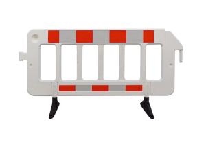 Absperrgitter -Stop-, Länge 2000 mm, rot / weiß, drehbare Füße, VPE 10 Stk. (Ausführung: Absperrgitter -Stop-, Länge 2000 mm, rot/weiß, drehbare Füße, VPE 10 Stk. (Art.Nr.: 39960))