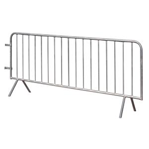 Absperrgitter Typ B -Control- aus Stahl, Länge 2100 oder 2600 mm, mit angeschweißten Füßen (Gesamtlänge/Absperrlänge/Anzahl der Füllstäbe:  <b>ca. 2100mm</b>/2000 mm/14 Stäbe (Art.Nr.: 419.001be))