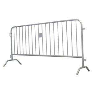 Absperrgitter Typ D -Rule-, Stahl, Länge 2000 oder 2500 mm, wahlweise mit integrierter Tastleiste (Gesamtlänge/Absperrlänge/Füllstäbe:  <b>2000mm</b>/1900mm<br>14 Stäbe/ohne Tastleiste (Art.Nr.: 419.001))