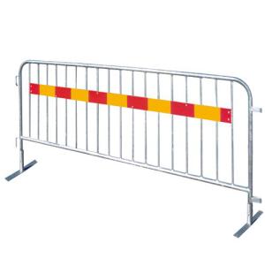 Absperrgitter Typ SE, aus Stahl, mit Tastleiste und herausnehmbaren Füßen, in versch. Längen (Gesamtlänge/Absperrlänge/Anzahl Füllstäbe:  <b>2500 mm</b> / 2350 mm / 18 Stäbe (Art.Nr.: 419.00sesk))