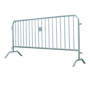 Absperrgitter Typ U aus Stahl, Länge 2500 mm, mit angeschweißten Füßen (Ausführung: Absperrgitter Typ U aus Stahl, Länge 2500 mm, mit angeschweißten Füßen (Art.Nr.: 419.00-u200))