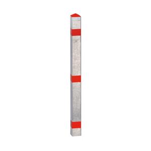 Absperrpfosten -Acero- 70 x 70 mm, aus Stahl, Einbetonieren o. Aufdübeln, herausnehmbar o. fest