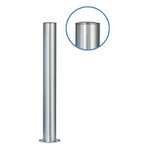Absperrpfosten -Acero Flachkopf-(V2A) Ø 102 mm aus Edelstahl