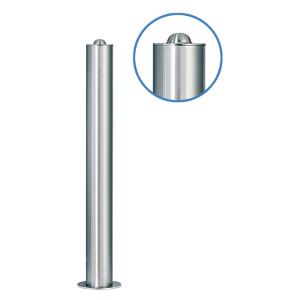 Absperrpfosten -Acero Halbhügel- (V2A) Ø 102 mm aus Edelstahl
