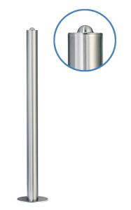 Absperrpfosten -Acero Halbhügel- (V2A) Ø 61 mm aus Edelstahl