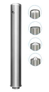Absperrpfosten -Acero Quick Turn- Ø 102 mm, Edelstahl (V2A), herausnehmbar, versch. Kopfformen