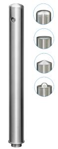 Absperrpfosten -Acero Quick Turn- Ø 76 mm aus Edelstahl (V2A), herausnehmbar, versch. Kopfformen