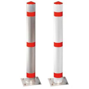 Absperrpfosten -Acero- Ø 102mm, Stahl, Einbetonieren oder Aufdübeln, herausnehmbar o. feststehend