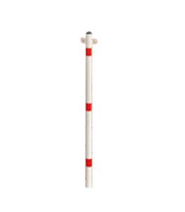 Absperrpfosten -Acero- Ø 48 mm, Stahl, zum Einbetonieren o. Aufdübeln, feststehend, 2 Kettenösen (Oberfläche/Befestigung: verzinkt/zum Einbetonieren (Art.Nr.: 13414))