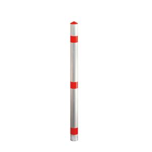 Absperrpfosten -Acero- Ø 60 mm aus Aluminium, feststehend o. herausnehmbar (Befestigung/Schließung: zum Einbetonieren (Art.Nr.: 13437))