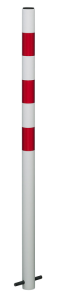 Absperrpfosten Acero- Ø 60 mm aus Kunststoff, Einbetonieren o. Aufdübeln, fest o. herausnehmbar (Befestigung/Verschluss: zum Einbetonieren,<br>mit Abschlusskappe (Art.Nr.: 13418))