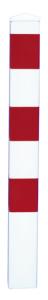 Absperrpfosten -Bollard- 100 x 100 mm aus Stahl, zum Einbetonieren oder Aufdübeln, herausnehmbar