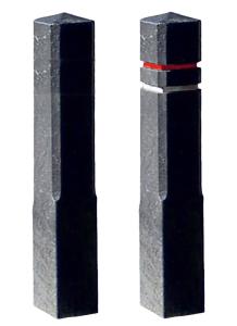 Absperrpfosten -Bollard- 140 x 140 mm aus Recyclingkunststoff, zum Einbetonieren (Farbe/ Modell: grau/  <b>ohne Fräsungen  (Art.Nr.: 41006))
