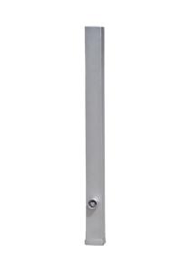 Absperrpfosten -Bollard- 70 x 70 mm aus Edelstahl, herausnehmbar, wahlweise mit Ösen