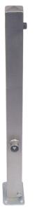 Absperrpfosten -Bollard- 70 x 70 mm aus Edelstahl, umlegbar, wahlweise mit Ösen