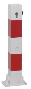Absperrpfosten -Bollard- 70 x 70 mm aus Stahl, zum Einbetonieren oder Aufdübeln, umlegbar
