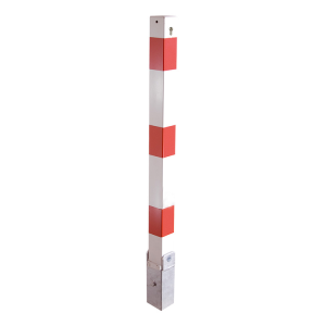 Absperrpfosten -Bollard- 70 x 70 mm, umlegbar, Hebe- und Kippmechanik, Profilzylinderschloss (Farbe: ohne Farbe (Art.Nr.: 470uzkh))