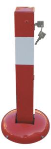 Absperrpfosten -Bollard Leipzig- 70 x 70 mm aus Stahl, zum Einbetonieren oder Aufdübeln, umlegbar