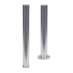 Absperrpfosten -Bollard- Ø 102 mm aus Edelstahl, zum Einbetonieren oder Aufdübeln, feststehend