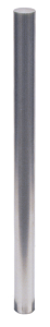 Absperrpfosten -Bollard- Ø 60 mm, Edelstahl, zum Einbetonieren, herausnehmbar, wahlweise mit Ösen