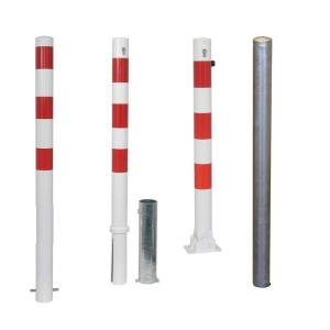 Absperrpfosten -Bollard- Ø 76 mm -alle Varianten-, wahlweise mit Ösen