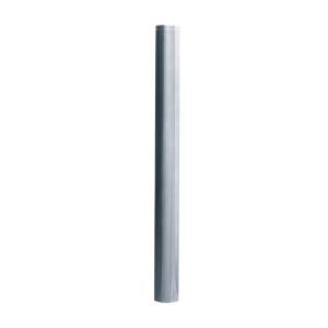 Absperrpfosten -Bollard- Ø 76 mm aus Edelstahl mit Ziernut, feststehend