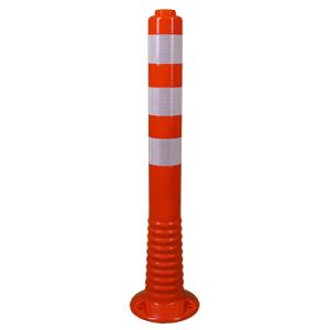 Absperrpfosten -Elasto Orange Sign- mit integriertem Gewinde, Ø 78 mm, überfahrbar, Höhe 700 mm (Ausführung: Absperrpfosten -Elasto Orange Sign- mit integriertem Gewinde, Ø 78 mm, überfahrbar, Höhe 700 mm (Art.Nr.: 3