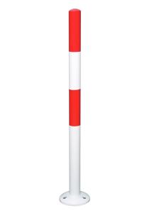 Absperrpfosten -Mountain- Ø 60 mm, aus Stahl, zum Aufdübeln, herausnehmbar (Modell: ohne Reflexstreifen (Art.Nr.: 34179))