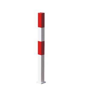 Absperrpfosten -Parat B- 70x70mm - zum Einbetonieren o. Aufdübeln, herausnehmbar, wahlweise Ösen