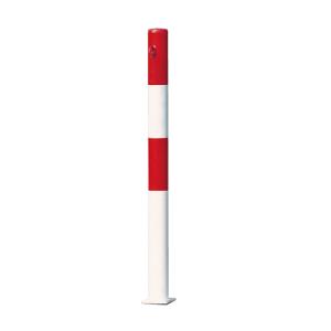 Absperrpfosten -Parat B- Ø 60mm - zum Einbetonieren oder Aufdübeln, herausnehmbar, wahlweise Ösen