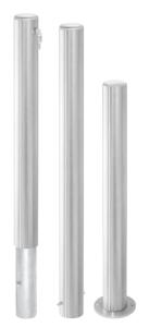 Absperrpfosten -Steel Line Plus- Ø 102 mm aus Edelstahl, herausnehmbar o. feststehend