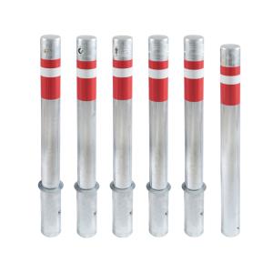 Absperrpfosten -Steel Line Plus- Ø 102 mm aus Stahl, zum Einbetonieren, herausnehmbar oder feststehend