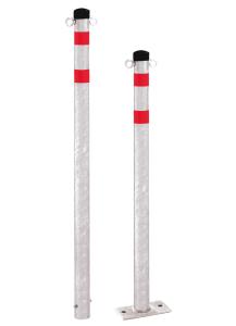 Absperrpfosten -Steel Line- Ø 60 mm aus Stahl, zum Einbetonieren oder Aufdübeln, feststehend (Modell: zum Einbetonieren mit Bodenanker (Art.Nr.: 14181))